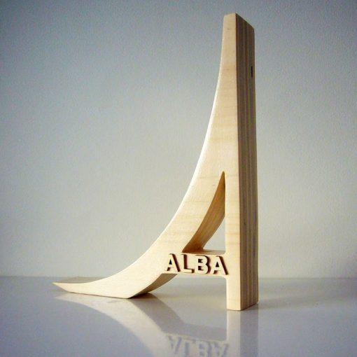 letra de madera personalizada con nombre