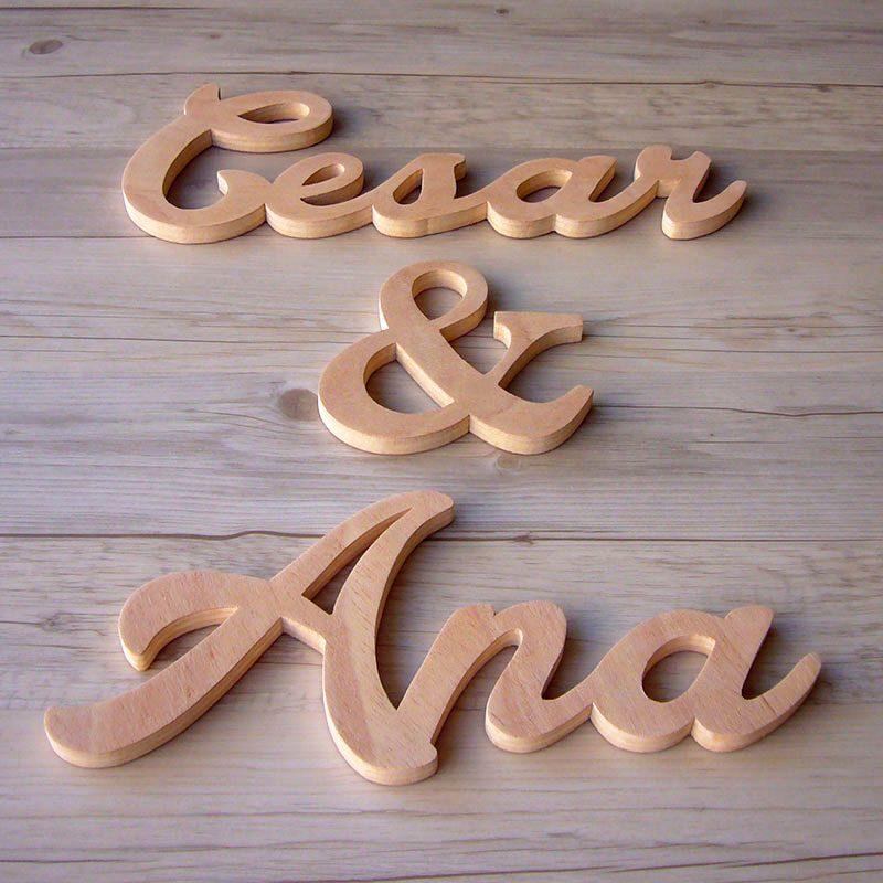 letras de madera nombre pareja