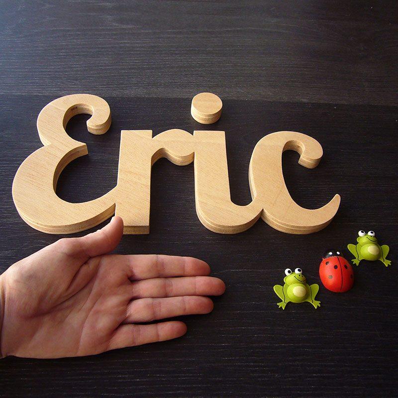 letras de madera natural eric
