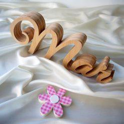 letras de madera natural nombre mar