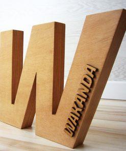 logo de madera personalizado