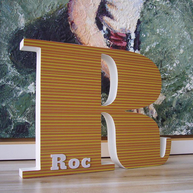 personalizacion de letra r de madera