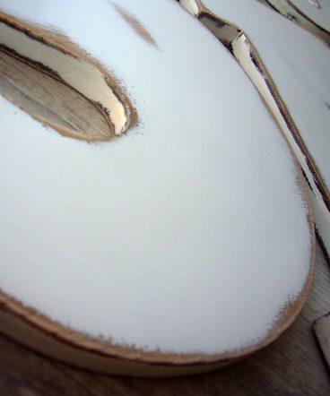 letras de madera en blanco vintage