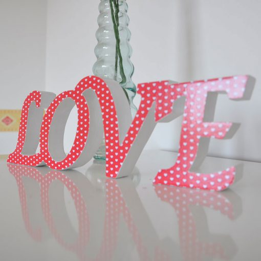 i love you en color rojo para decoracion