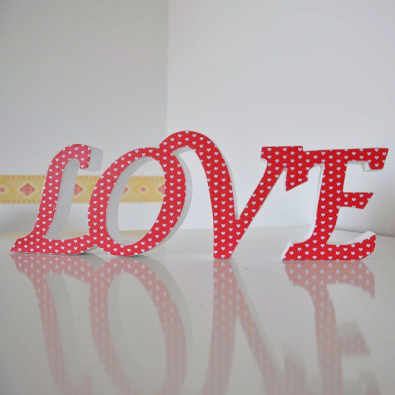 frase i love you decorativa