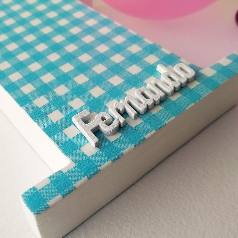 letra f decorada con nombre