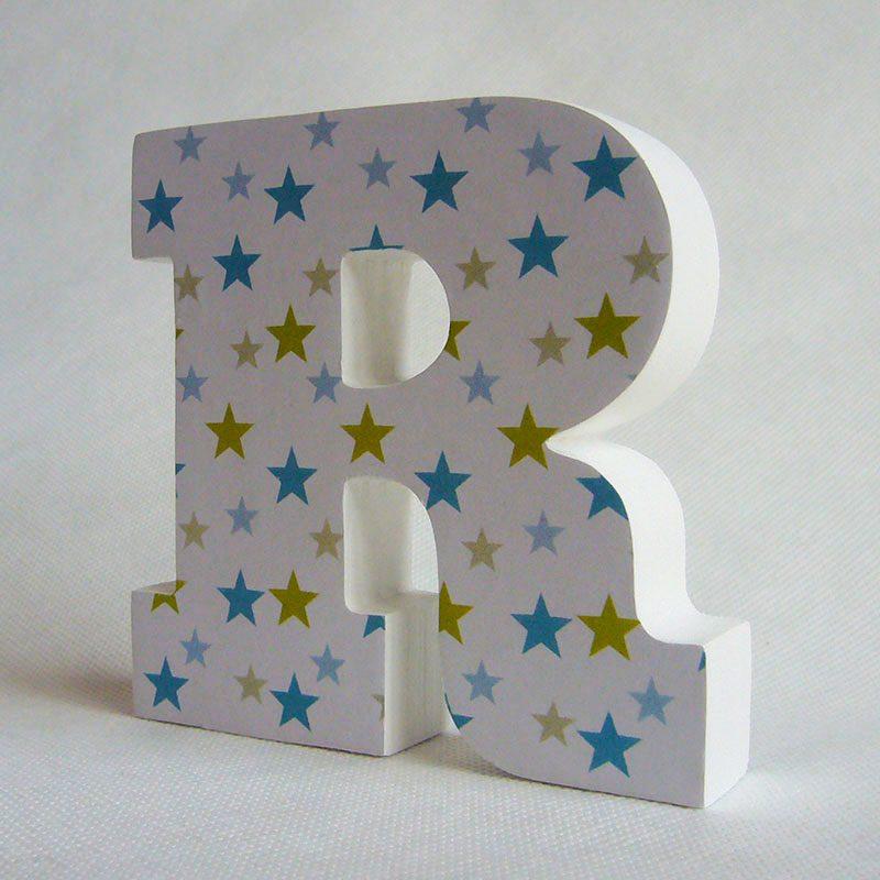 letras r decorada con estrellitas