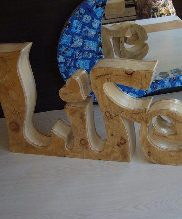 life vintage hecho en madera