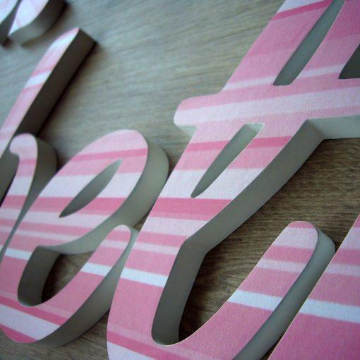 nombre elizabeth hecho a mano y decorado