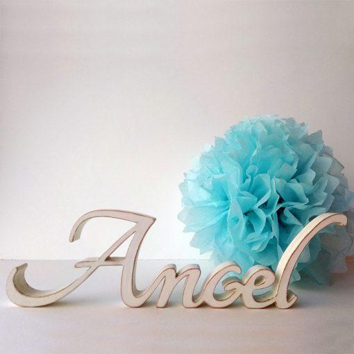 nombre angel color blanco