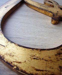 letras de madera decoradas color oro