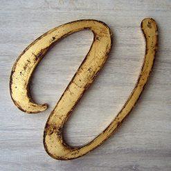 letras de madera decoracion oro