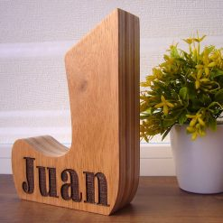 letra j madera personalizada con nombre
