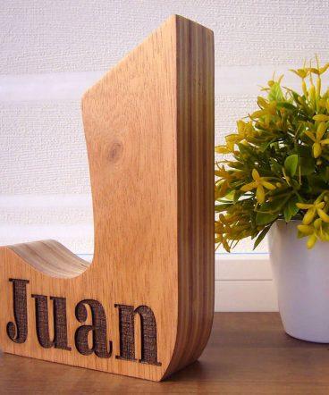 letra j personalizada con nombre juan
