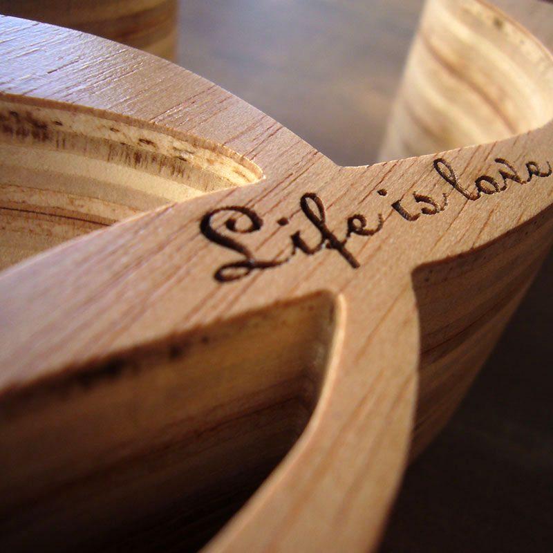 original love de madera grabado