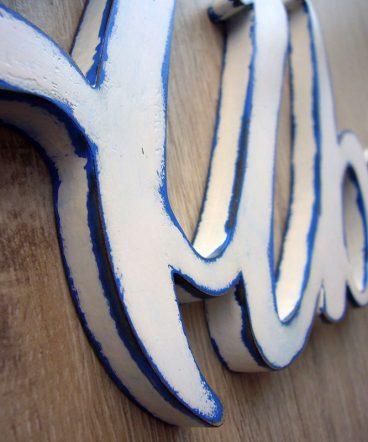 Alberto de madera decorado