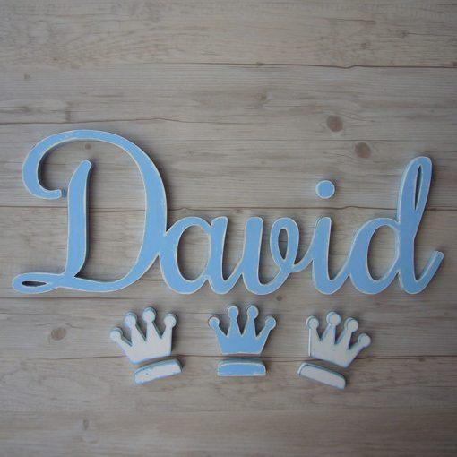nombre de madera david decorado