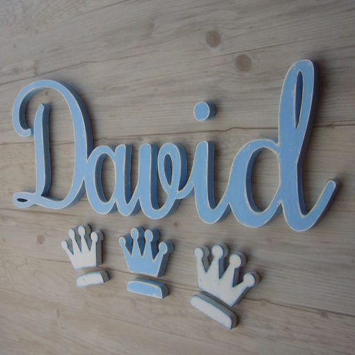 nombre de madera personalizado david
