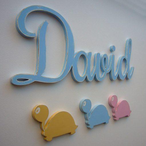nombre decorado david en celeste