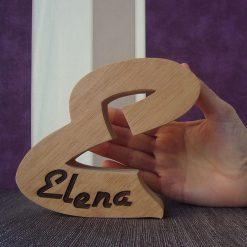 letra e personalizada con el nombre de elena