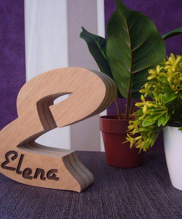 letra e personalizada con elena