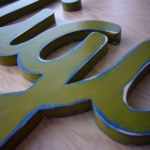 miguel nombre verde vintage