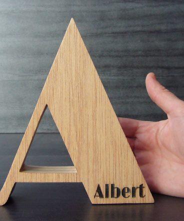 letra a de madera personalizada