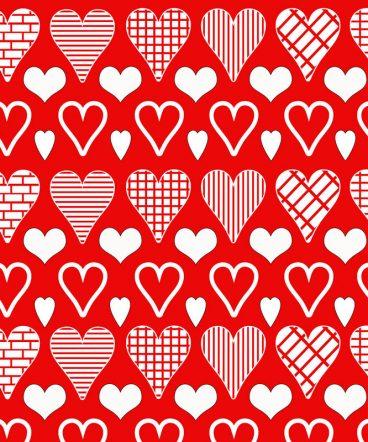 corazones-sobre-rojo