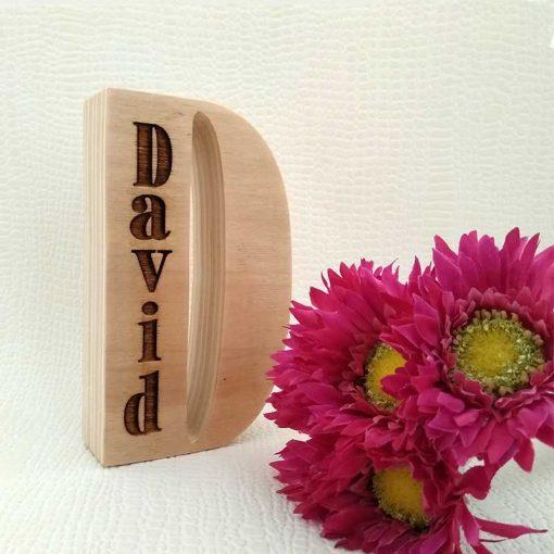 david en madera natural