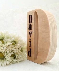 david en madera natural grabado