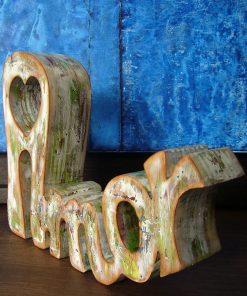 palabra amor de madera para enamorados
