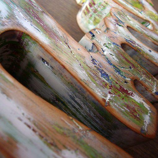 palabra amor de madera detalle