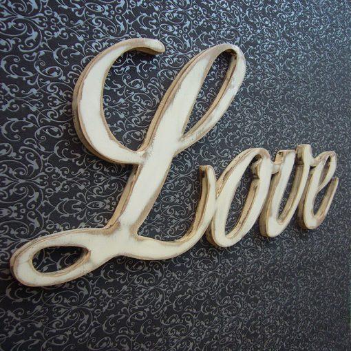 love de madera vintage para decorar