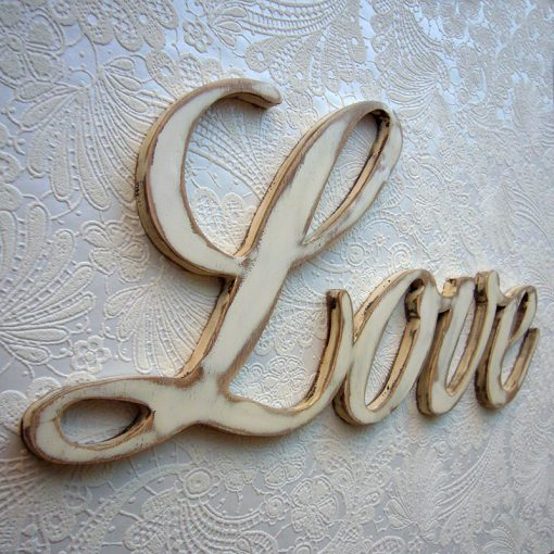 elegante love en blanco vintage