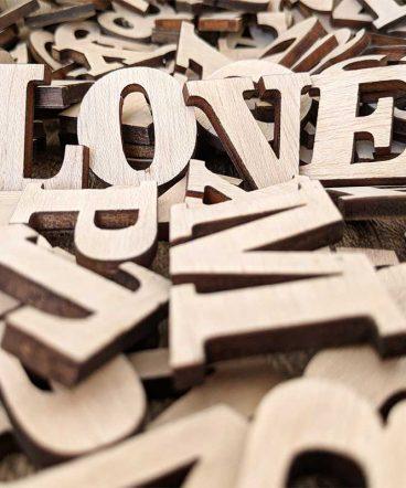 abecedario de madera a la carta