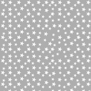 papel decoupage de estrellitas blancas sobre gris