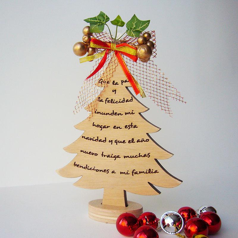 Frases Hechas Para Navidad.Arbol De Navidad Con Frase