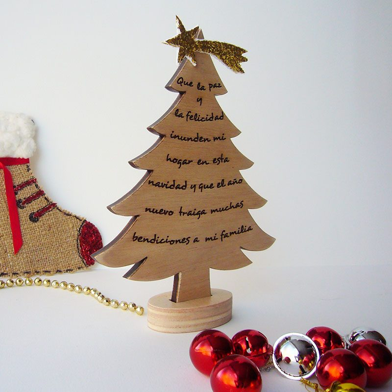 f6cadddc647 Inicio hogar adornos de navidad en madera jpg 800x800 Ideas arbol navidad  madera frase estrella