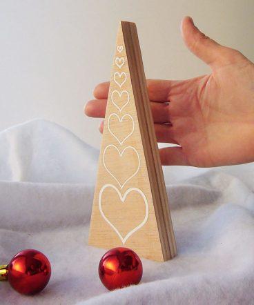 arboles de navidad artesanos de madera