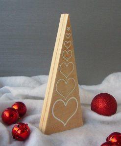 arbol de navidad de madera elegante