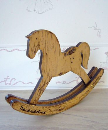 caballito decorativo de madera vintage