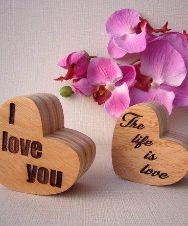 corazones grabados listos para personalizar