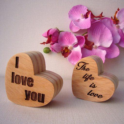 corazones de madera listos para personalizar