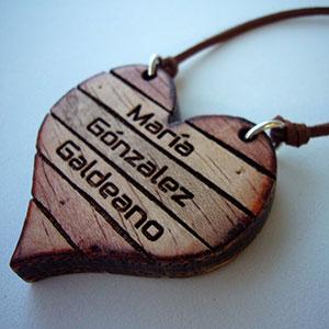 corazon-madera-personalizado Colgantes, corazones y llaveros exclusivos Uncategorized