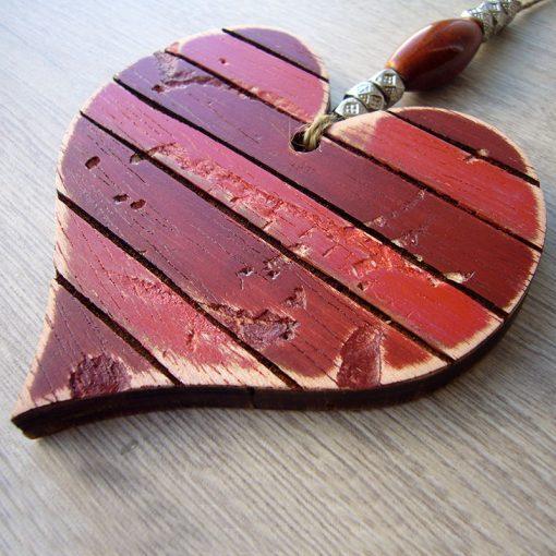 corazones vintage ojos de madera envejecida de palets