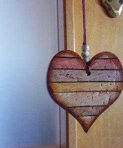 corazones envejecidos para decoración