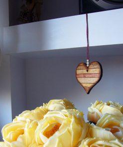 corazones envejcidos de madera para decoracion