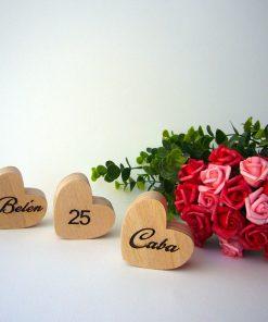 corazones grabados con personalización