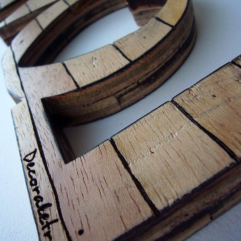 love retro de madera vintage