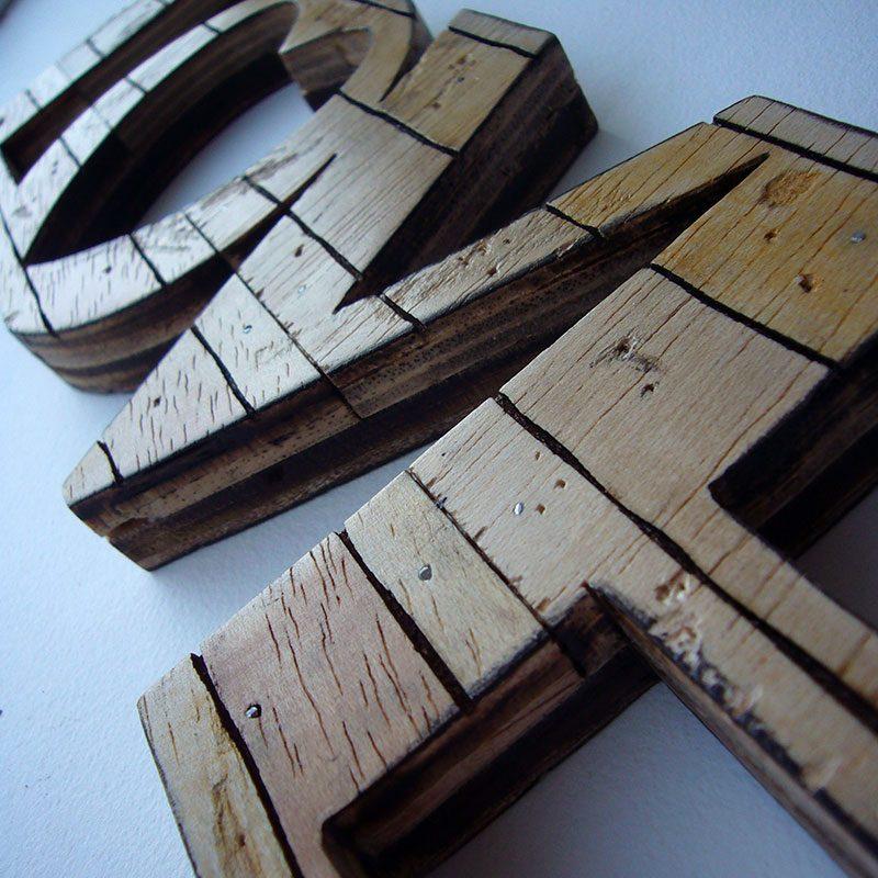 love retro de madera estilo palets